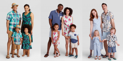 The trend of wearing Matching dresses with kids